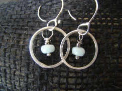 aqua marine earrings