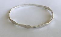 spaced hammered bangle