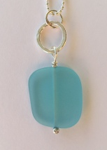 turquoise sea glass